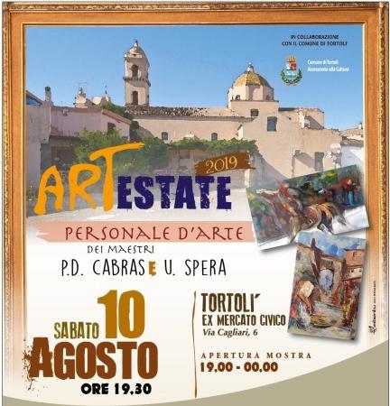 Mostra ArtEstate, personale dei Maestri Umberto Spera e Pierdomenico Cabras all'ex Mercato Civico
