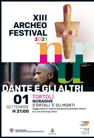 NurArcheofestival, nella splendida cornice del sito archeologico S'Ortali e su Monti lo spettacolo 'Dante e gli altri'