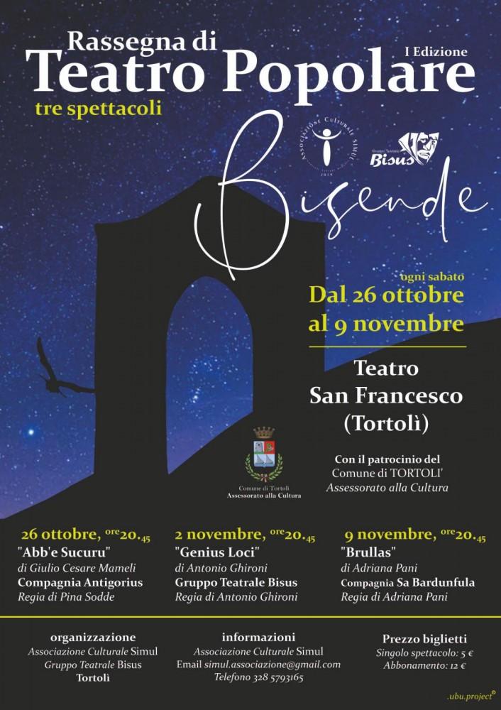 'Bisende', rassegna di teatro popolare al San Francesco